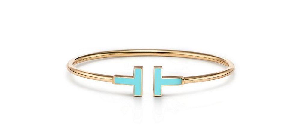 Браслет Tiffany T Wire с бирюзой