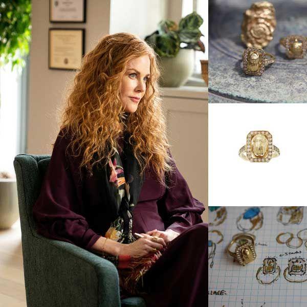 Прекрасное кольцо Scarab из желтого золота и бриллиантов