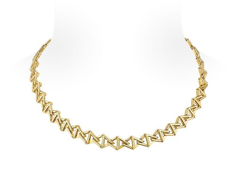 Ожерелье-цепочка LV Volt Curb от Louis Vuitton из желтого золота
