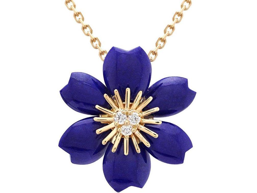 Мини-кулон Rose de Nöel из лазурита