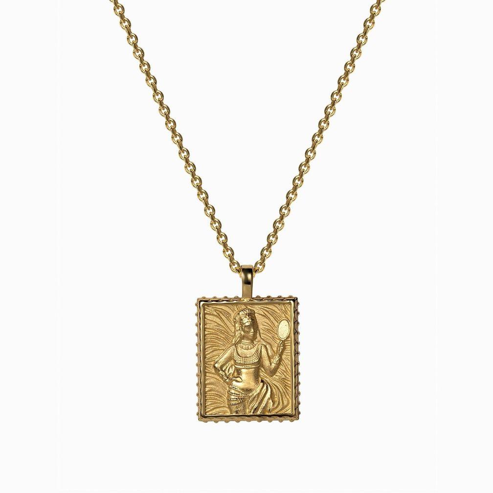 Кулон Oshun, позолоченное серебро Vermeil