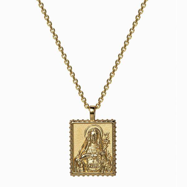 Кулон Mother Mary, позолоченное серебро Vermeil