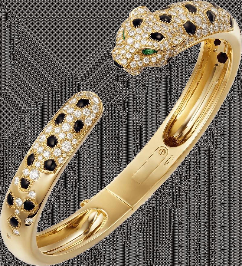 Браслет La Panthère de Cartier из желтого золота с изумрудами, ониксами и бриллиантами