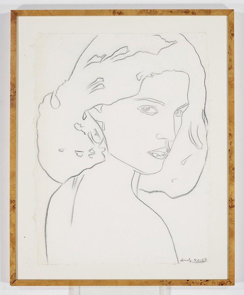 Барбара Аллен нарисована Энди Уорхолом в 1976 году