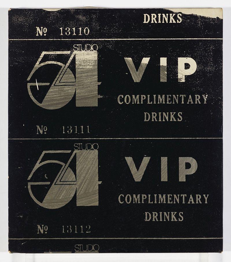 Картина VIP Ticket-Studio 54 Энди Уорхола, нарисованная в 1978 году