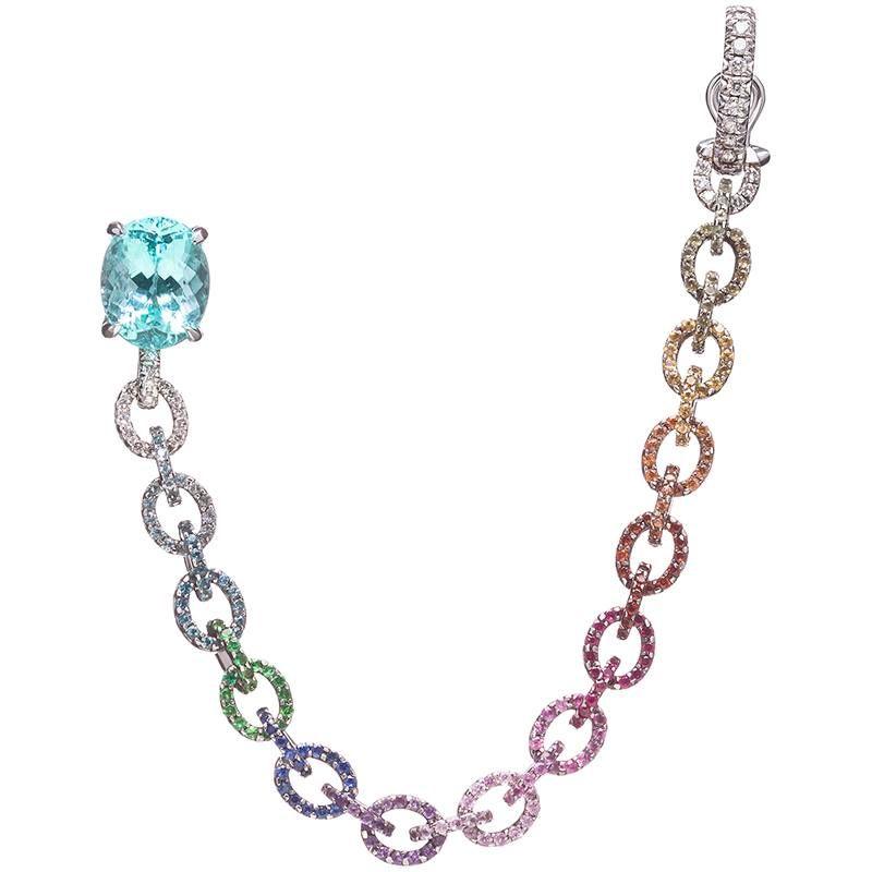 Eva от Ana Khouri с голубым турмалином параиба, сапфирами и бриллиантами
