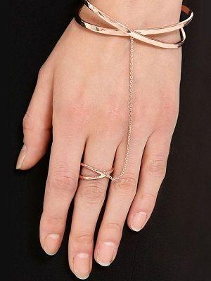 браслет с кольцом