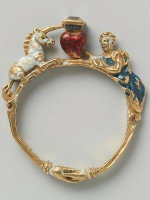 Старинное кольцо в стиле рококо