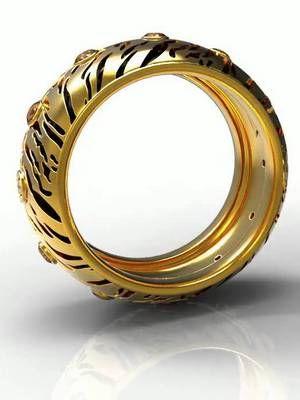 Массивное кольцо в стиле сафари