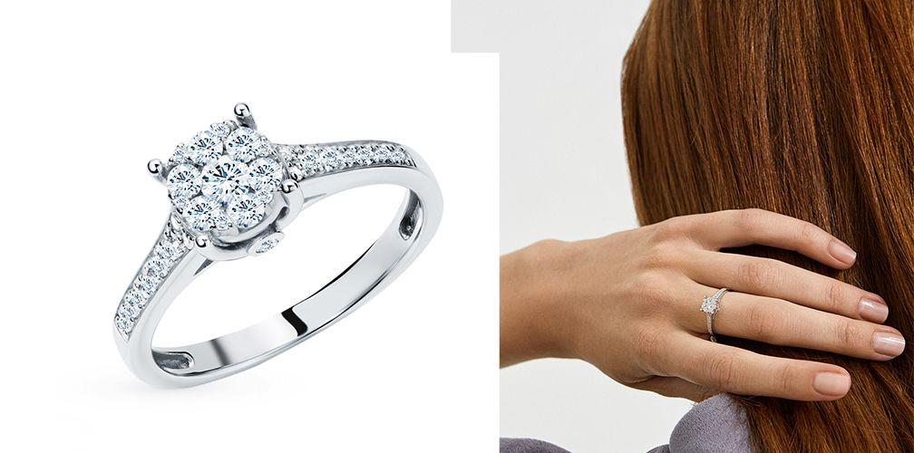 Золотое кольцо «Бриллианты Якутии» обручальное