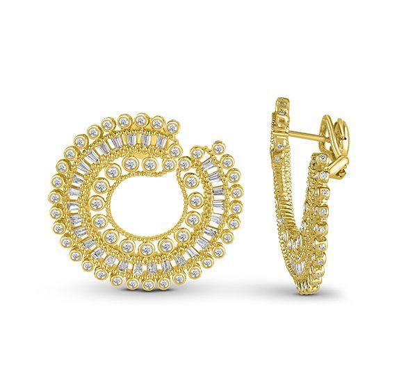 Серьги Sunlight из 18-каратного золота с бриллиантами