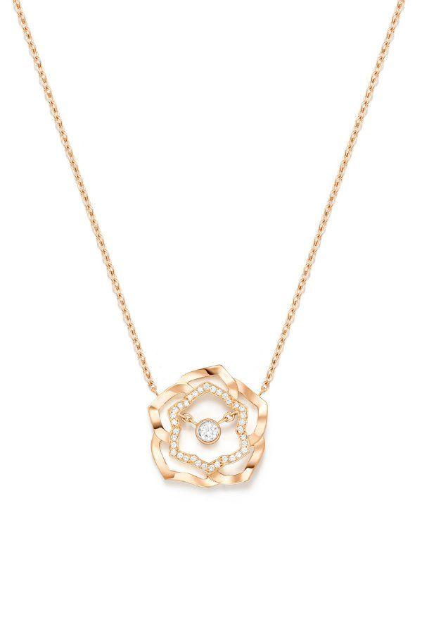 Колье Rose от Piaget из розового золота 18 карат