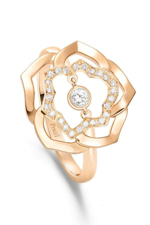 Кольцо Rose от Piaget из розового золота 18 карат