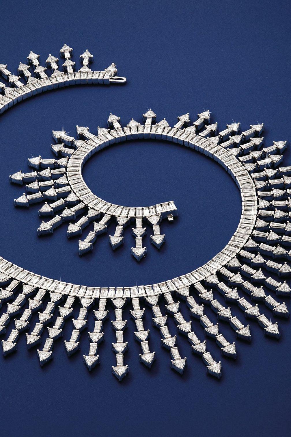 Колье Supernova от Lark & Berry x Diamond Foundry из белого золота с бриллиантами