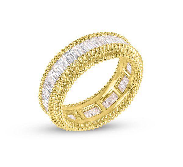Складываемое кольцо Sunlight из 18-каратного золота с бриллиантами багетной огранки