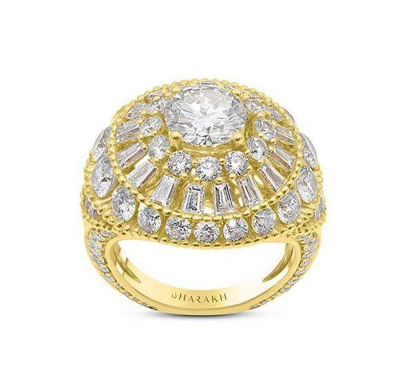 Кольцо Sunlight grand из 18-каратного золота с бриллиантами