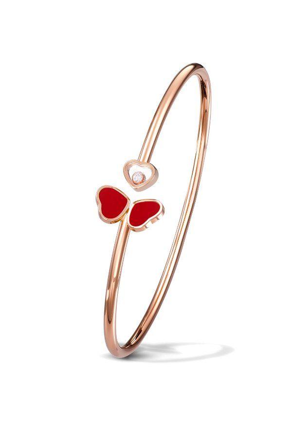 Браслет Happy Hearts Wing от Chopard из розового золота