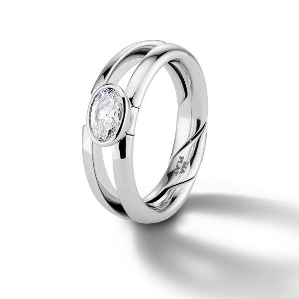 Обручальное кольцо DiMe Siempre от Марлы Аарон из платины с бриллиантом