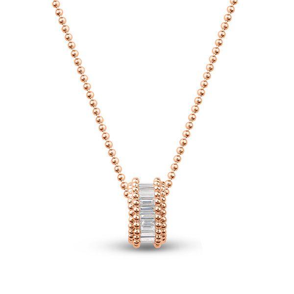 Подвеска Sunlight из розового золота 18 карат с бриллиантами багетной огранки