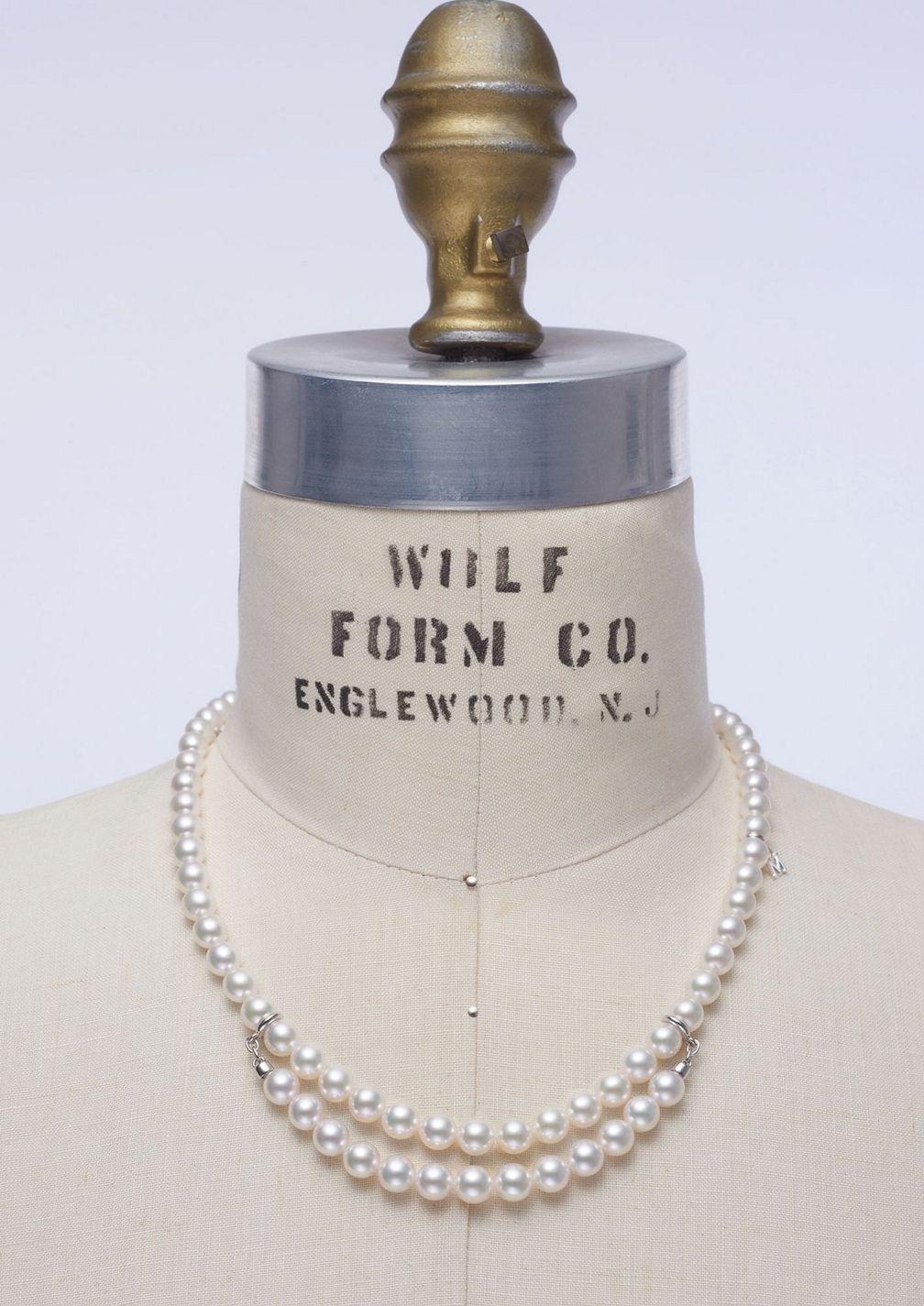 Колье из стерлингового серебра с жемчугом от Mikimoto x Comme des Garçons