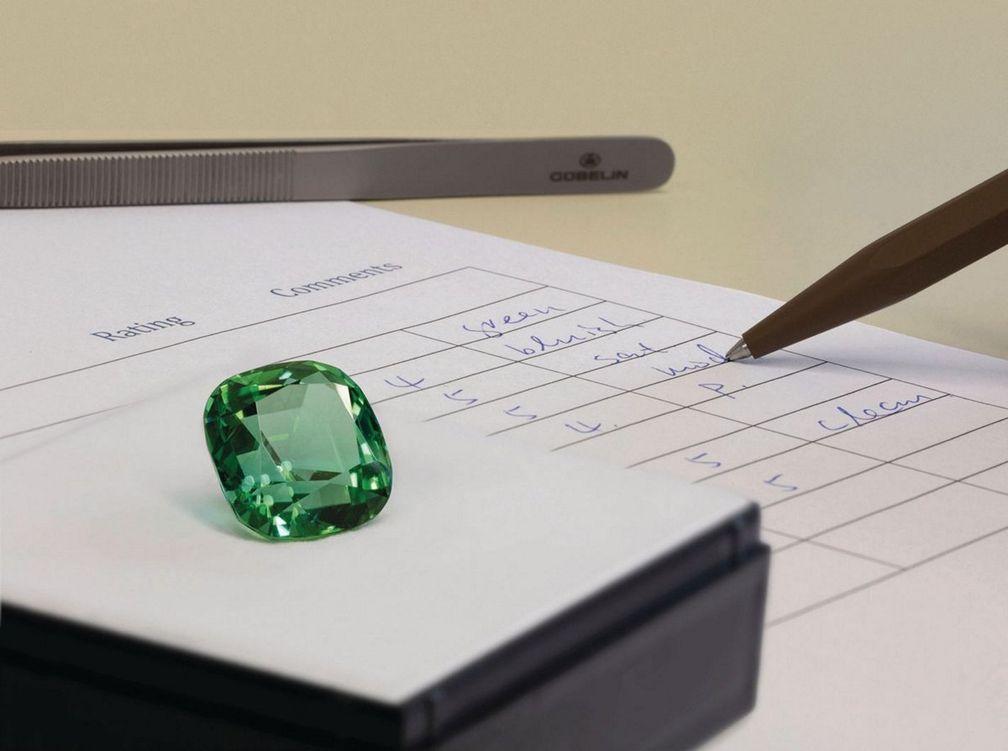 Система оценки цветных драгоценных камней Gübelin
