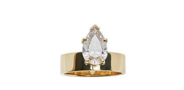 Кольцо Pear Diamond Monolith от WWake