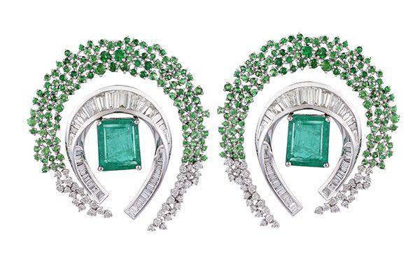 Серьги Emerald Ombré Scatter от Ananya