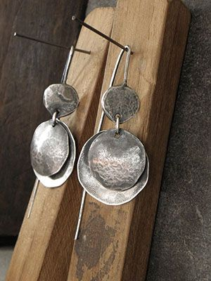 серьги из оксидированного серебра