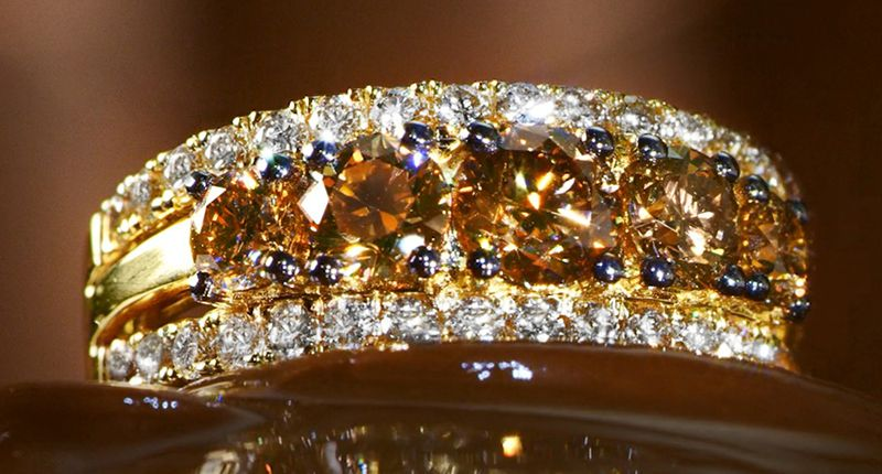 Кольцо Honey Gold Chocolate Diamonds Jubilee от Le Vian