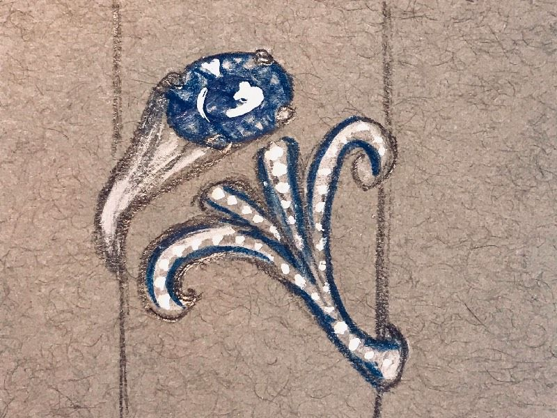 Эскиз кольца Ariel от Фредерика Бермана