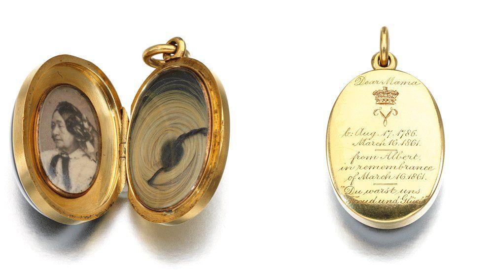 Кулон принца Альберта с агатом и бриллиантами, около 1861 года