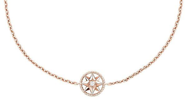 Браслет Rose des Vents из розового золота 18 карат с бриллиантом и перламутром