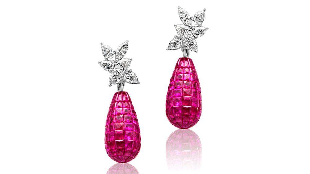 Серьги Shruti Sushma с бриллиантами и рубинами