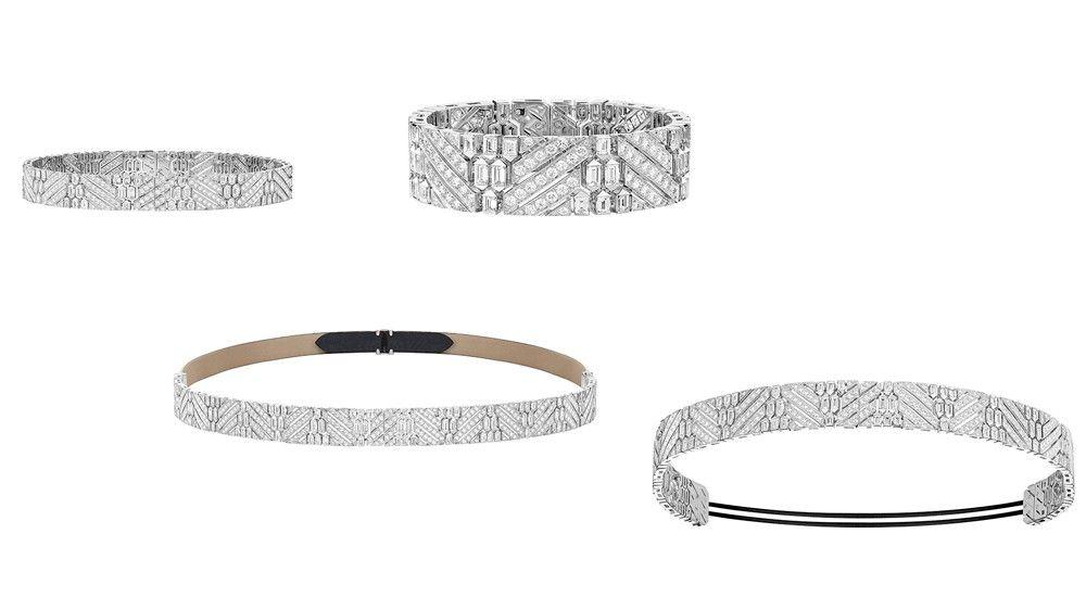 Колье, браслет, пояс и тиара с бриллиантами Boucheron Ruban