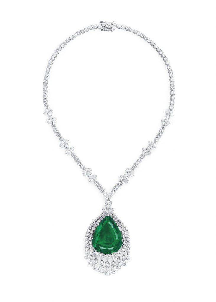Ожерелье с колумбийским изумрудом, когда-то принадлежавшим Екатерине Великой