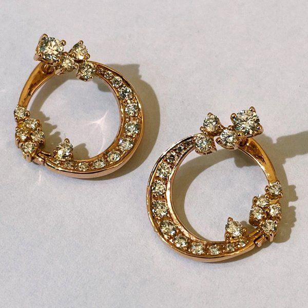 Серьги Luna Loops из розового золота с бриллиантами