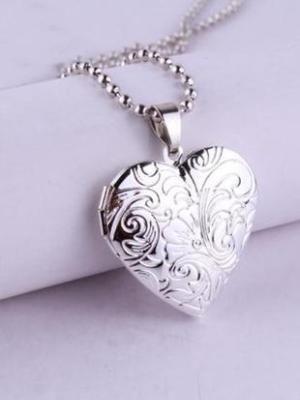 Серебряный кулон-сердечко
