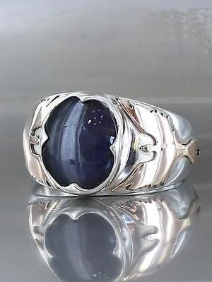 кольцо с кордиеритом
