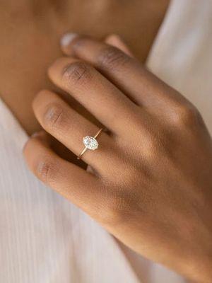 кольцо с фенакитом