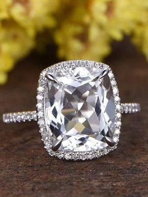 кольцо с прозрачным камнем