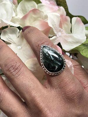 кольцо с серафинитом