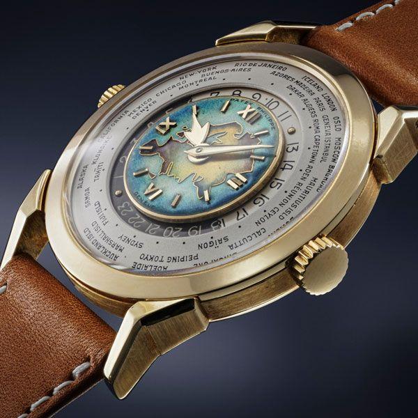Часы Patek Philippe Reference 2523 из желтого золота с перегородчатой эмалью на циферблате