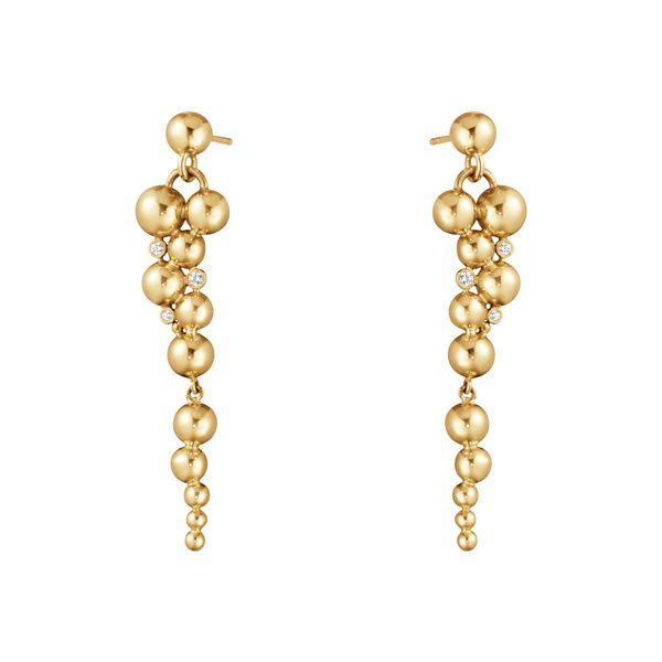 Серьги Moonlight Grapes из желтого золота с белыми бриллиантами