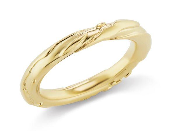 Кольцо Untitled Carved из золота
