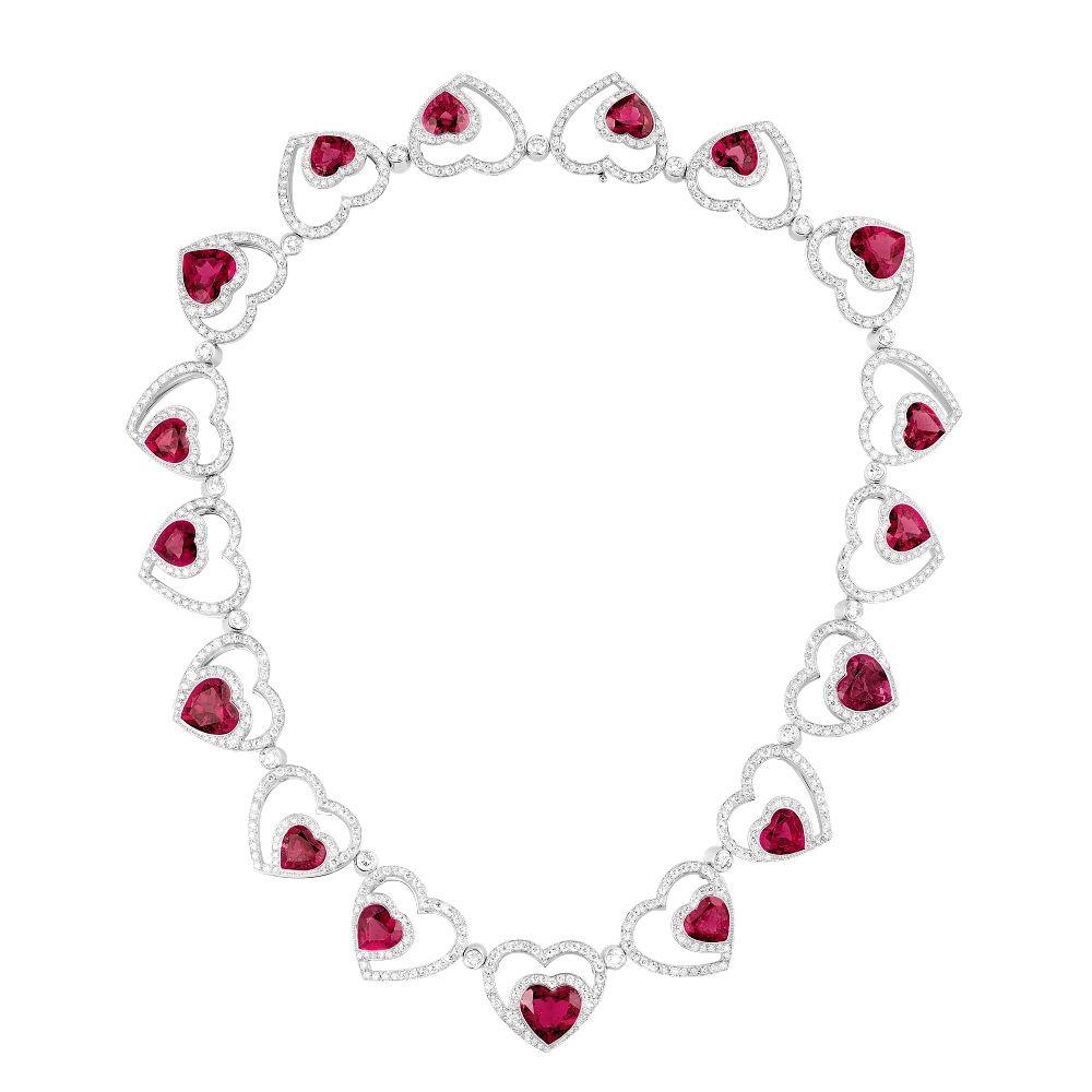 Колье от Fred с рубеллитами и бриллиантами, вдохновленное оригинальным украшением из фильма «Красотка»