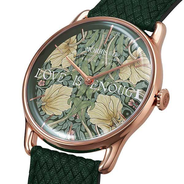 Часы Pimpernel из нержавеющей стали с ремешком из зеленого перлона