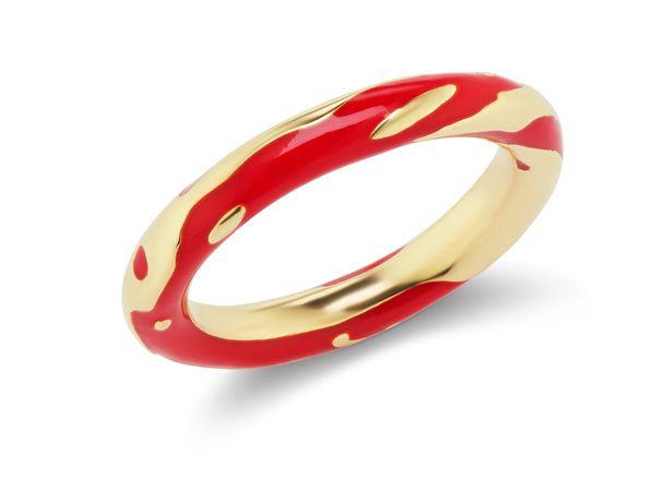 Кольцо Untitled из золота с красной эмалью