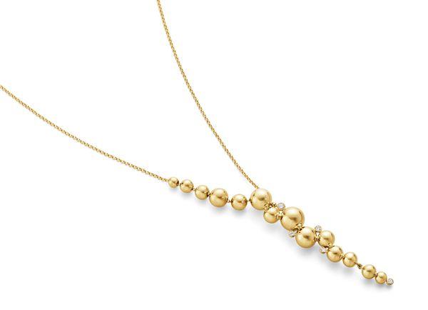 Колье Moonlight Grapes от Georg Jensen из желтого золота с белыми бриллиантами