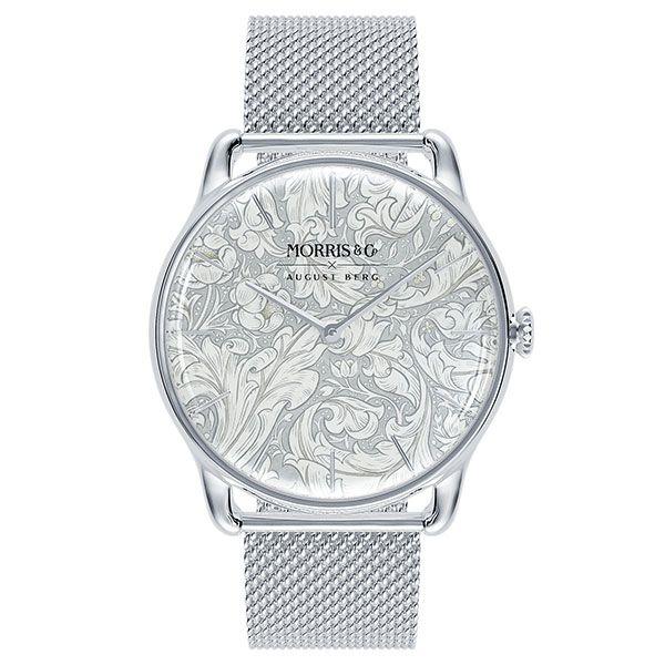 Часы Silver Bachelors Button из нержавеющей стали с сетчатым ремешком из нержавеющей стали