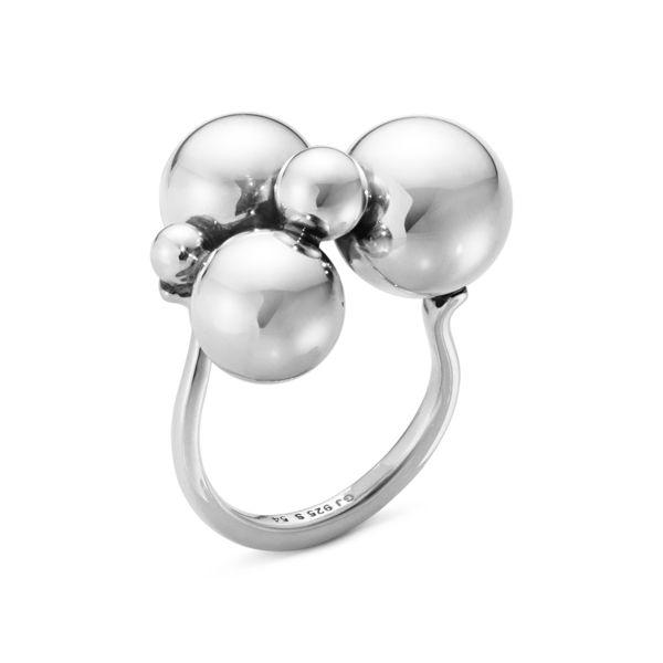 Кольцо Moonlight Grapes от Georg Jensen из оксидированного серебра
